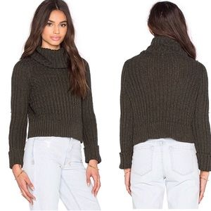 Free People Twisted Cable Turtleneck Sweater